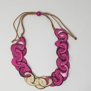 Handmade tagua Nut set necklace and earrings.